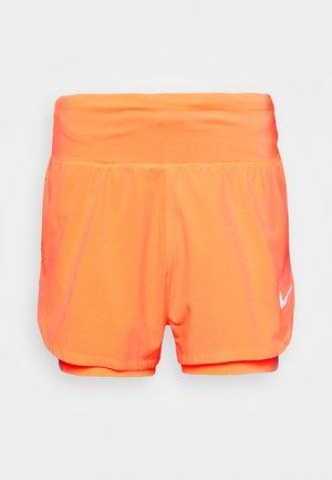 ECLIPSE SHORT - kurze Sporthose - bright mango/silver