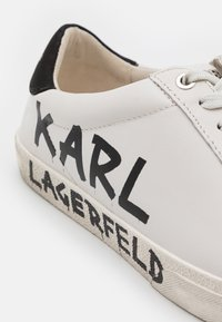 KARL LAGERFELD - SKOOL BRUSH LOGO LACE - Sneakersy niskie - white - 4