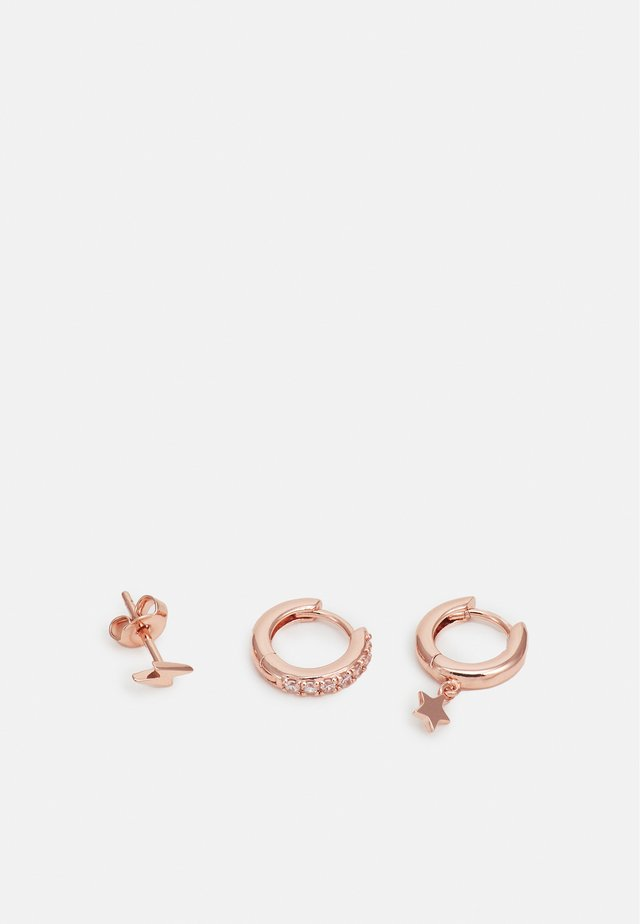 LIGHTNING AND STAR EAR PARTY 3 PACK - Boucles d'oreilles - rose gold-coloured