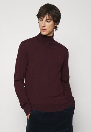 LONG SLEEVE SWEATER - Strickpullover - bordeux
