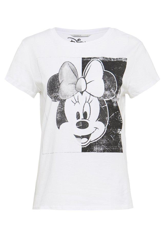 MINNIE FACE  - Camiseta estampada - white