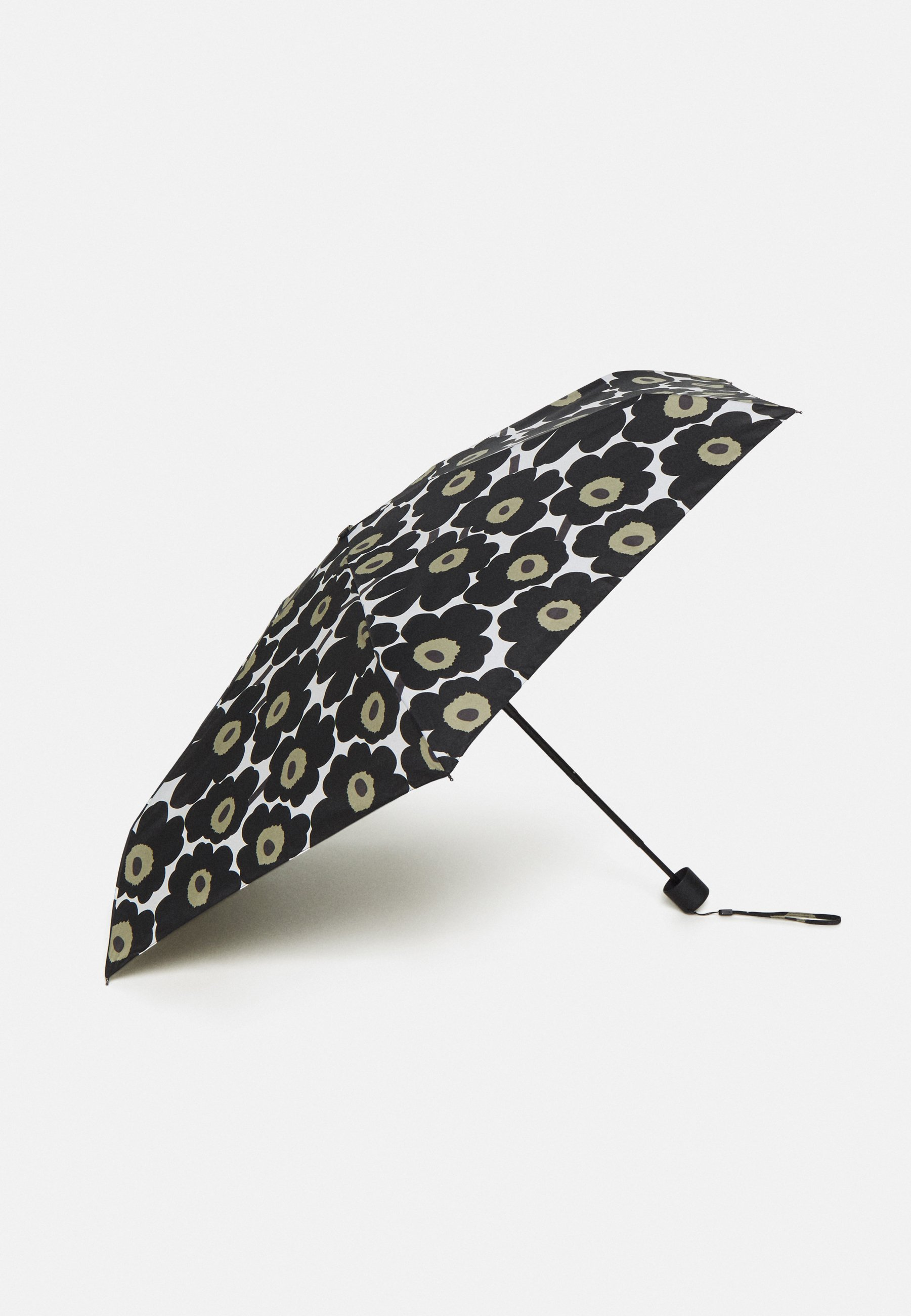 Marimekko MINI UNIKKO MANUAL UMBRELLA - Paraply - white/black/olive/hvit YicdJdTPyTVULPC