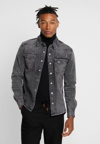 Tigha - FRED USED - Shirt - vintage black - 0