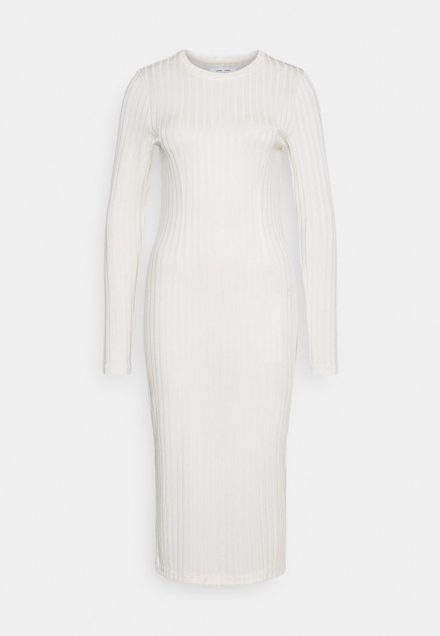 JENARI DRESS - Gebreide jurk - eggnog