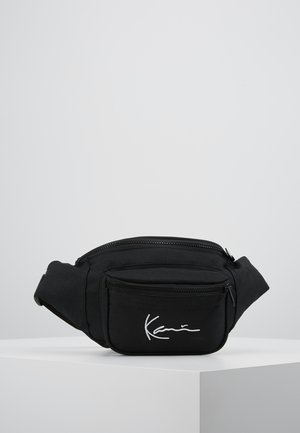SIGNATURE WAIST BAG - Bum bag - black