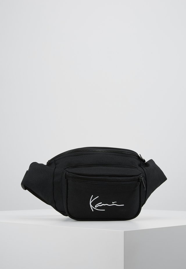 SIGNATURE WAIST BAG - Ledvinka - black