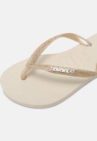 Havaianas - GLITTER II - T-bar sandals - beige - 6