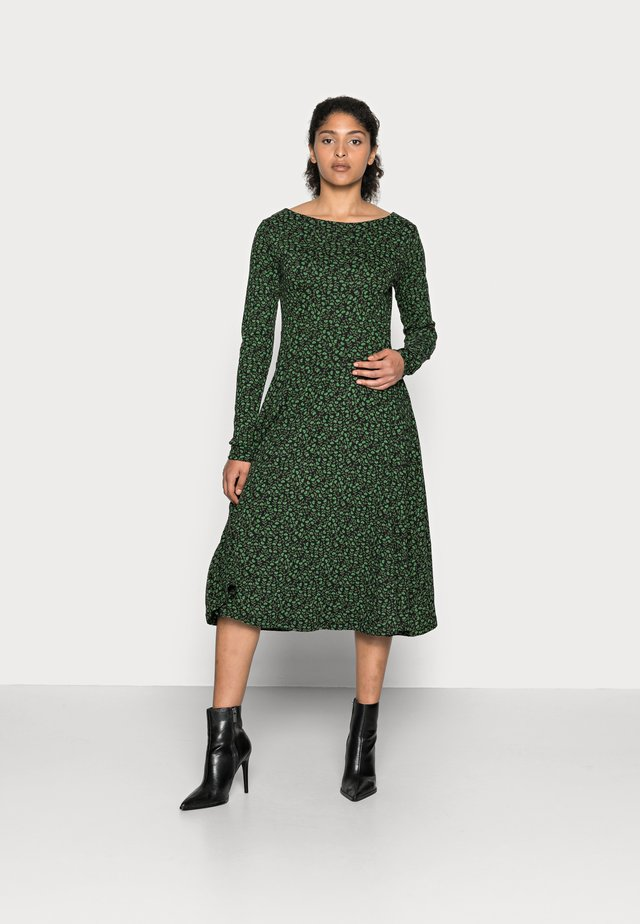 ORGANIC SIGRID DRESS - Jerseykjole - black/khaki