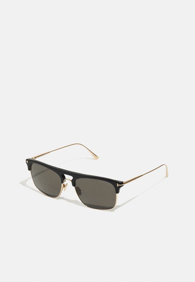 LEE UNISEX - Solglasögon - black/rose gold/smoke