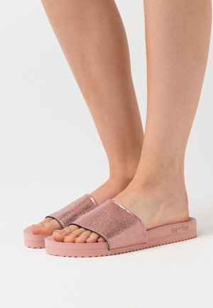 POOL METALLIC CRACKED - Mules - silverpink