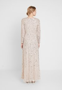 Maya Deluxe - ALL OVER HEAVILY EMBELLISHED WRAP LONG SLEEVE MAXI DRESS - Robe de cocktail - nude - 3