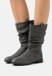 New Look - CHERISH - Vysoká obuv - mid grey - 0