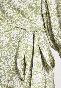 Gina Tricot - DITA DRESS - Vestido informal - green/white - 4