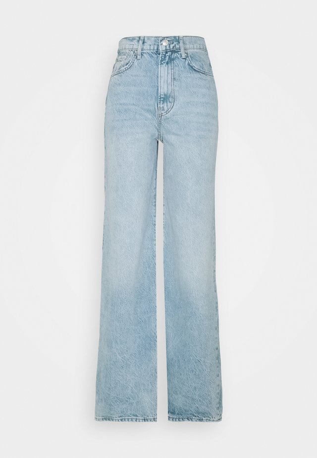 ASTORIA WIDE LEG - Straight leg jeans - seafoam