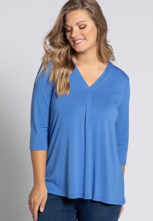 MIT ZIERFALTE - Long sleeved top - abendblau