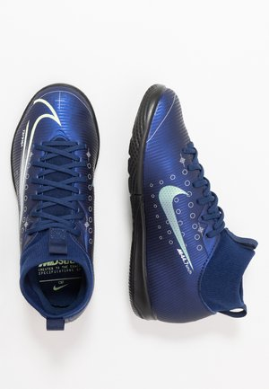 MERCURIAL 7 ACADEMY MDS IC UNISEX - Indoor football boots - blue void/metallic silver/white/black