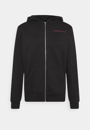 UNISEX ESSENTIAL ZIP TRHOUGH HOODIE - Collegetakki - black