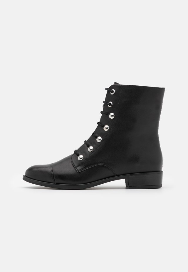 BARO - Botines con cordones - black