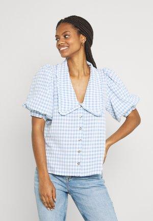 ENAPRIL - Button-down blouse - sky blue