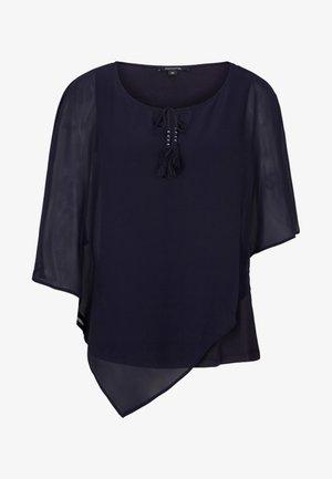 MIT QUASTENVERZIERUNGEN - Blusa - dark blue