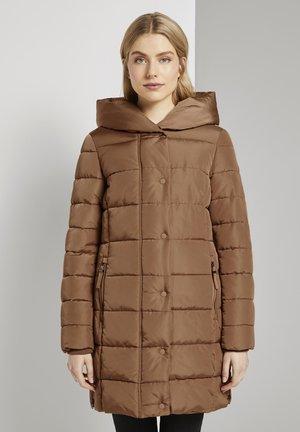MIT BREITEM KRAGEN - Winterjas - light chestnut