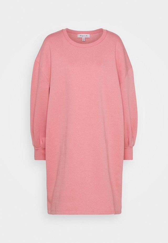 PUFF SLEEVE DRESS - Denní šaty - pink