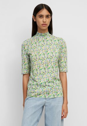 STAND-UP - Print T-shirt - multi/pistacchio shell