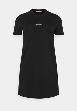 MICRO BRANDING DRESS - Žerzejové šaty - black