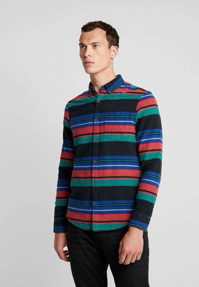 BLANKET STRIPE SHIRT - Camisa - true black