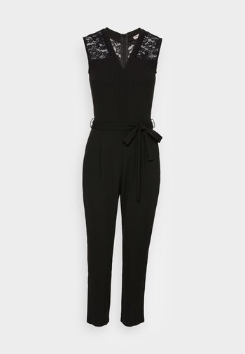 OCCASION V NECK BELTED SLEEVELESS - Overall / Jumpsuit - black