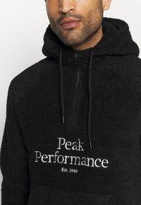 Peak Performance - ORIGINAL HOOD - Mikina skapucí - black - 5