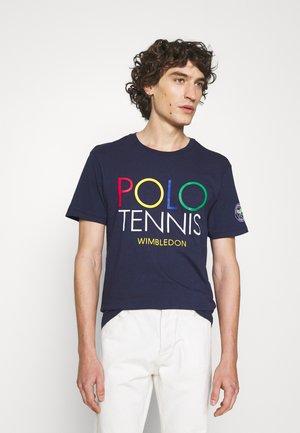 Print T-shirt - french navy