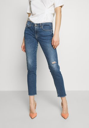 PYPER CROP - Skinny-Farkut - light blue