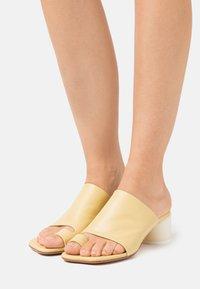 MM6 Maison Margiela - T-bar sandals - limelight - 0
