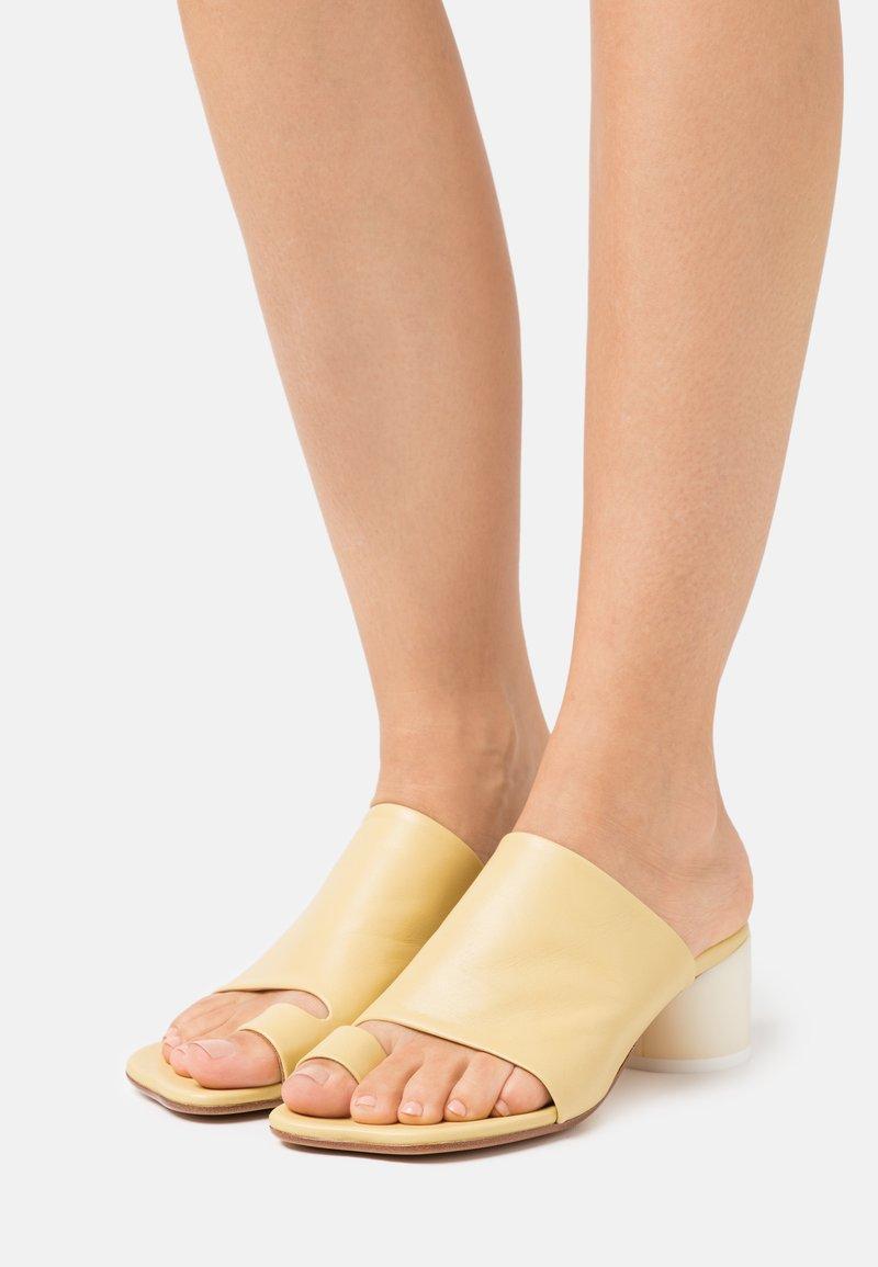 MM6 Maison Margiela - T-bar sandals - limelight