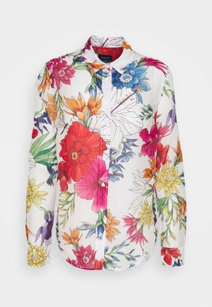 HUMMING FLORAL SHIRT - Button-down blouse - eggshell
