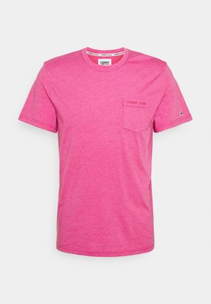 SMALL LOGO POCKET TEE - Basic T-shirt - pink