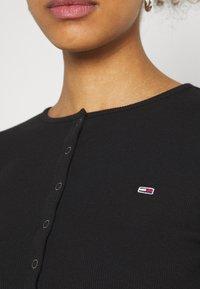 Tommy Jeans - SNAP THRU - Cardigan - black - 5