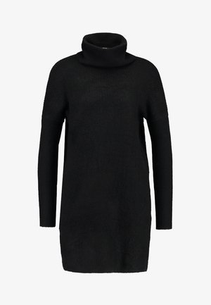 ONLJANA COWLNECK DRESS  - Strikkjoler - black