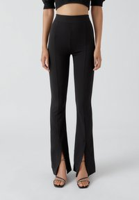 PULL&BEAR - Pantalon classique - mottled black - 0