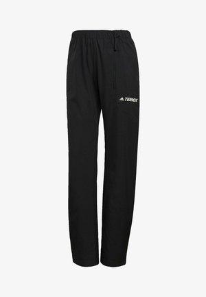 W MT RAIN PANT - Trousers - black