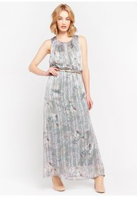 LolaLiza - WITH FLOWERS AND BELT - Maxi dress - turquoise - 1