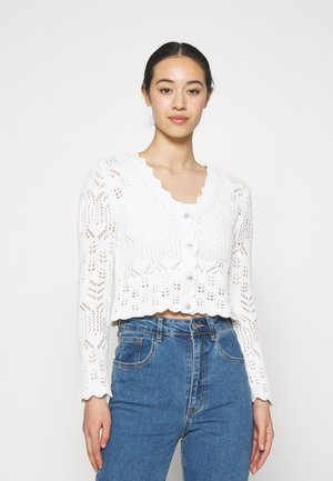 PEARL CARDIGAN - Vest - white