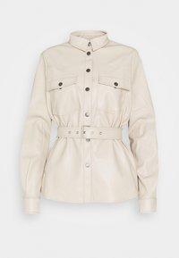 NMDUST BELT SHACKET - Faux leather jacket - taupe gray