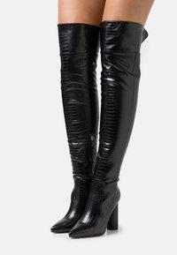 RAID - TOFINO - Kozačky nad kolena - black - 0