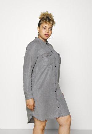 VMSILLA SHORT DRESS MIX - Košilové šaty - light grey denim