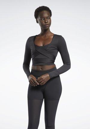 CARDI COLLAB CASUAL LONG SLEEVE - Long sleeved top - black