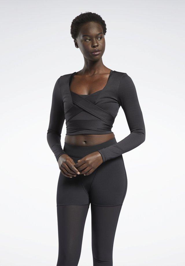 CARDI COLLAB CASUAL LONG SLEEVE - Maglietta a manica lunga - black