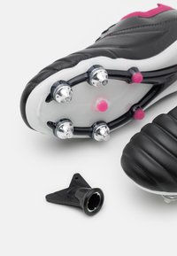 Umbro - TOCCO PRO SG - Screw-in stud football boots - black/white/raspberry radiance/pink peacock - 5