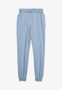TOM TAILOR DENIM - INDIGO HAREMS PANTS - Trousers - used light stone/blue denim - 0